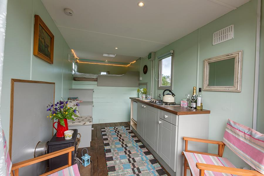 Nire Valley Glamping Dining Area
