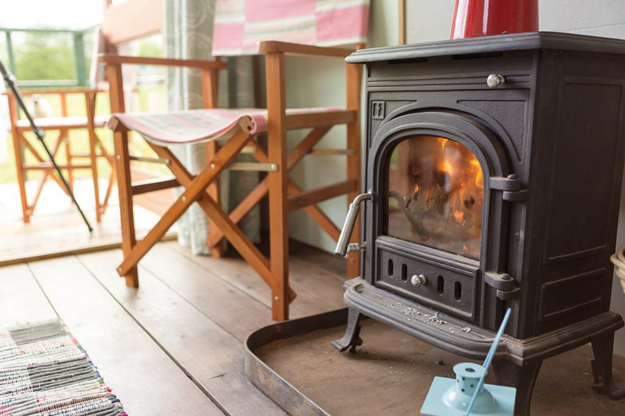 Nire Valley Glamping Fire Place
