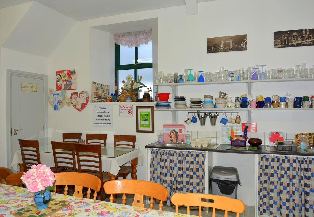 Galway Glamping kitchen and dining area