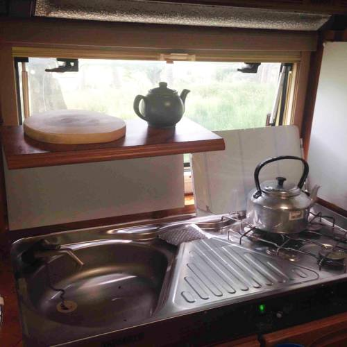 Lough Na fooey camping small kitchen