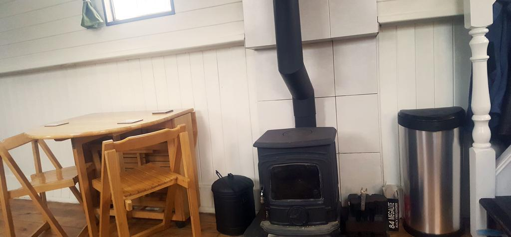 Roisin Dubh Houseboat Fire Place