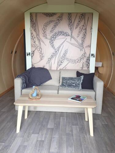 Thornfield Glamping Pods bed