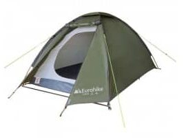 A Green Eurohike Tamar 2 2 Person Wild Camping Tent